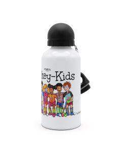 """Hockey-Kids All Stars"" Alu-Trinkflasche weiß"