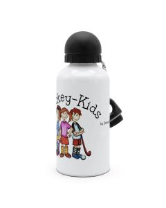 """Hockey-Kids"" Alu-Trinkflasche weiß"
