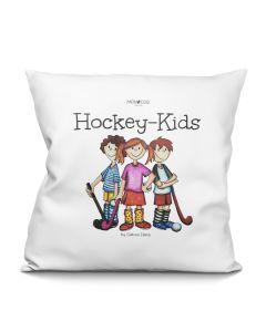 """""""Hockey-Kids"""" Kissen naturweiß (40 x 40 cm)"""